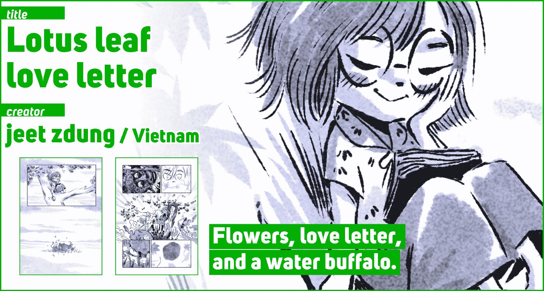 Lotus leaf love letter